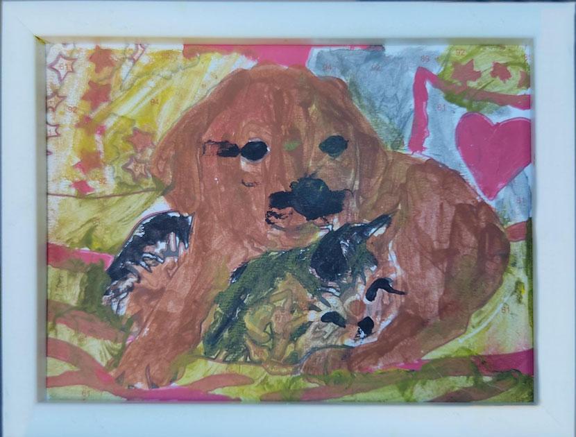 Картина Тагира, нарисованная красками